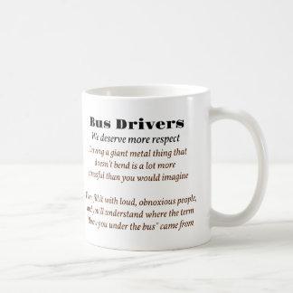 Bus Drivers Basic White Mug