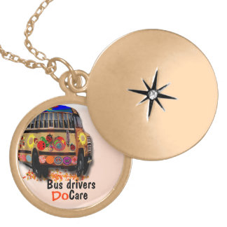Bus Drivers Do Care Personalized Necklace
