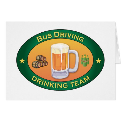 Bus Driving Drinking Team Card