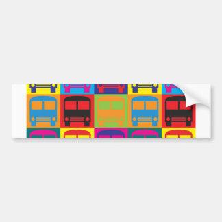 Bus Driving Pop Art Bumper Sticker