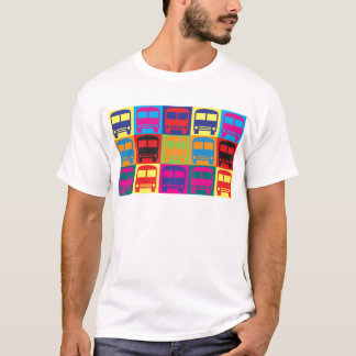 Bus Driving Pop Art T-Shirt