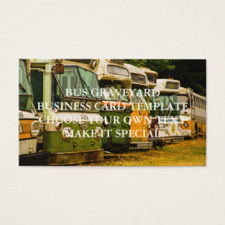 BUS GRAVEYARD BUSINESS CARD TEMPLATE