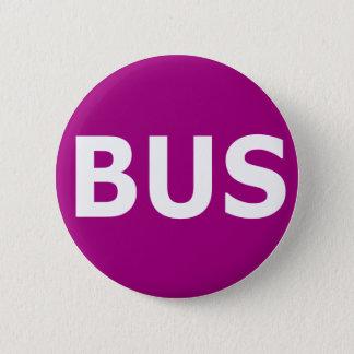 BUS logo - Violet 6 Cm Round Badge