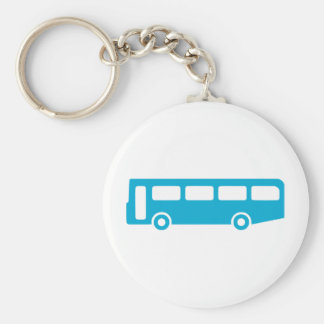bus school basic round button key ring