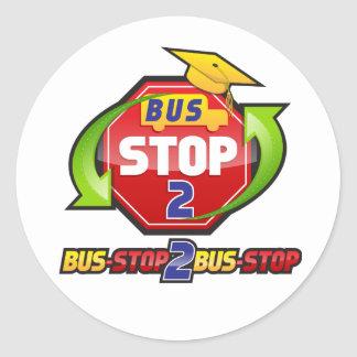 Bus-stop 2 Bus-stop Clothing and Acessories Round Sticker