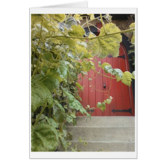 Bus Stop Beauty: Behind The Red Door Stationery Note Card