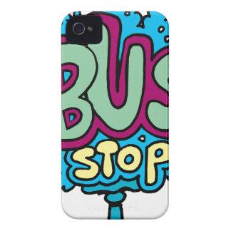 Bus Stop Bird iPhone 4 Cases