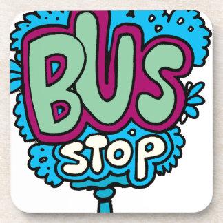 Bus Stop Bird Drink Coasters