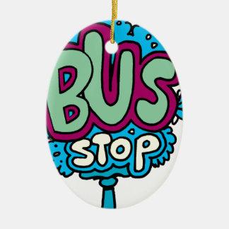 Bus Stop Bird Christmas Tree Ornament