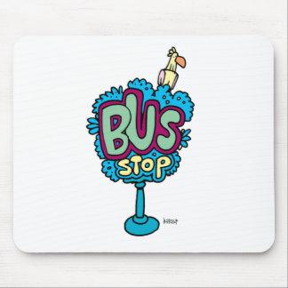 Bus Stop Bird Mousepads