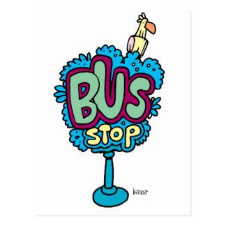 Bus Stop Bird Post Cards