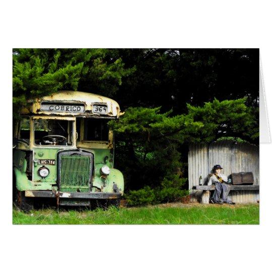 Bus Stop -Birthday Card