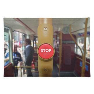 Bus stop button placemat