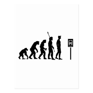 Bus Stop Evolution Postcard