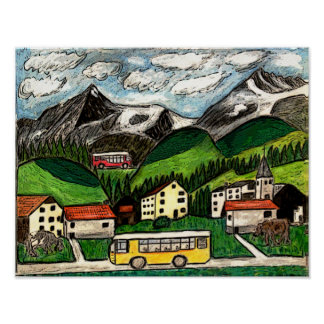 Bus Travel Posters
