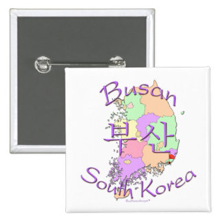 Busan South Korea 15 Cm Square Badge