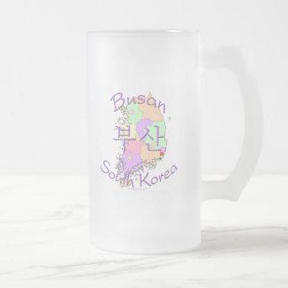 Busan South Korea Frosted Glass Mug