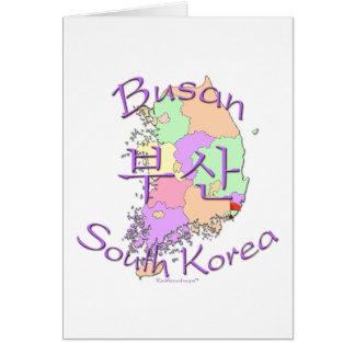 Busan South Korea Greeting Card