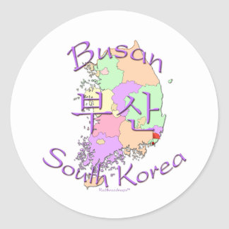 Busan South Korea Round Sticker