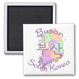 Busan South Korea Square Magnet