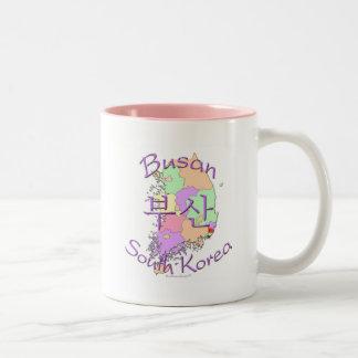 Busan South Korea Two-Tone Mug