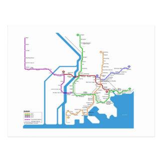 Busan subway wenskaart