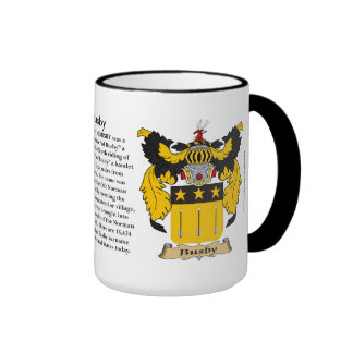 Busby Family Coat of Arms Mugs