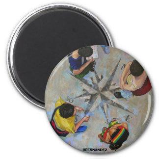 bUSCANDO EL NORTE 6 Cm Round Magnet