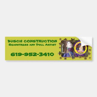 Busch Construction Bumper Sticker