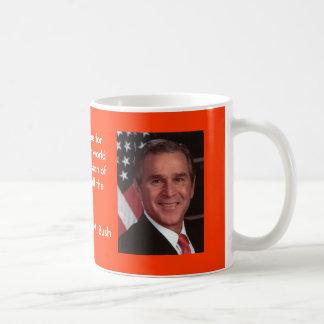 Bush 2 basic white mug