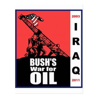 Bush Anti Iraq War Cartoon by Latuff Postcard