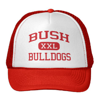 Bush - Bulldogs - Middle - San Antonio Texas Trucker Hats