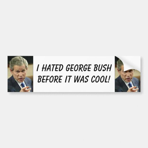 bush bumper sticker