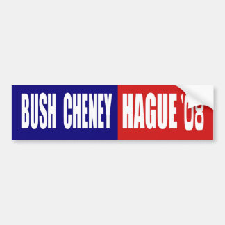BUSH CHENEY / HAGUE 08 BUMPER STICKER