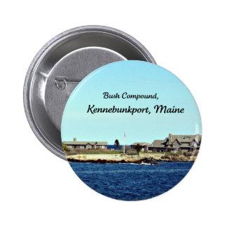 Bush Compound, Kennebunkport, Maine 6 Cm Round Badge