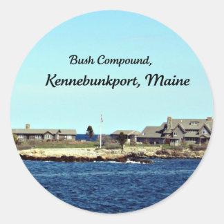 Bush Compound, Kennebunkport, Maine Classic Round Sticker