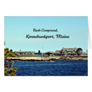 Bush Compound, Kennebunkport, Maine Greeting Card