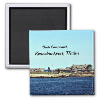 Bush Compound, Kennebunkport, Maine Square Magnet