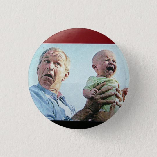 Bush Droppin' Babies & Bombs 3 Cm Round Badge