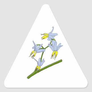 Bush Flowers Triangle Sticker
