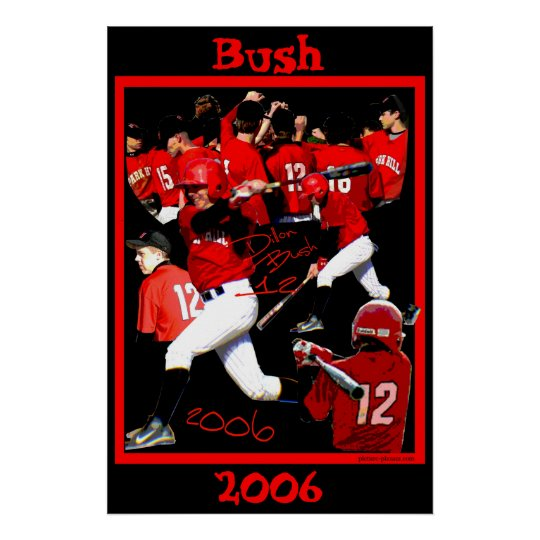 Bush Freshman Baseball Poster