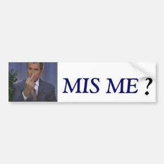 Bush greeting! bumper sticker