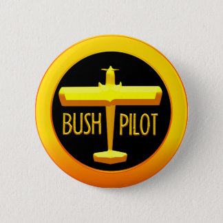 Bush Pilot 6 Cm Round Badge