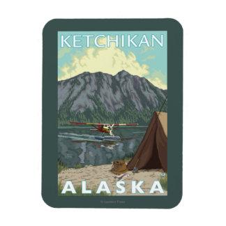 Bush Plane & Fishing - Ketchikan, Alaska Magnet