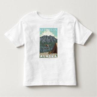 Bush Plane & Fishing - Ketchikan, Alaska Toddler T-Shirt