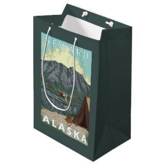 Bush Plane & Fishing - Seward, Alaska Medium Gift Bag