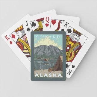 Bush Plane & Fishing - Seward, Alaska Playing Cards