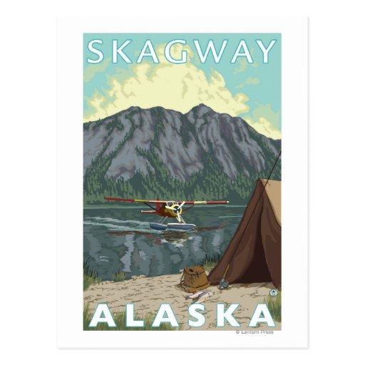 Bush Plane & Fishing - Skagway, Alaska Post Cards