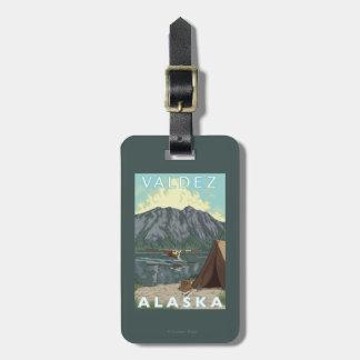Bush Plane & Fishing - Valdez, Alaska Luggage Tag