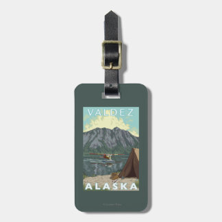 Bush Plane & Fishing - Valdez, Alaska Luggage Tag